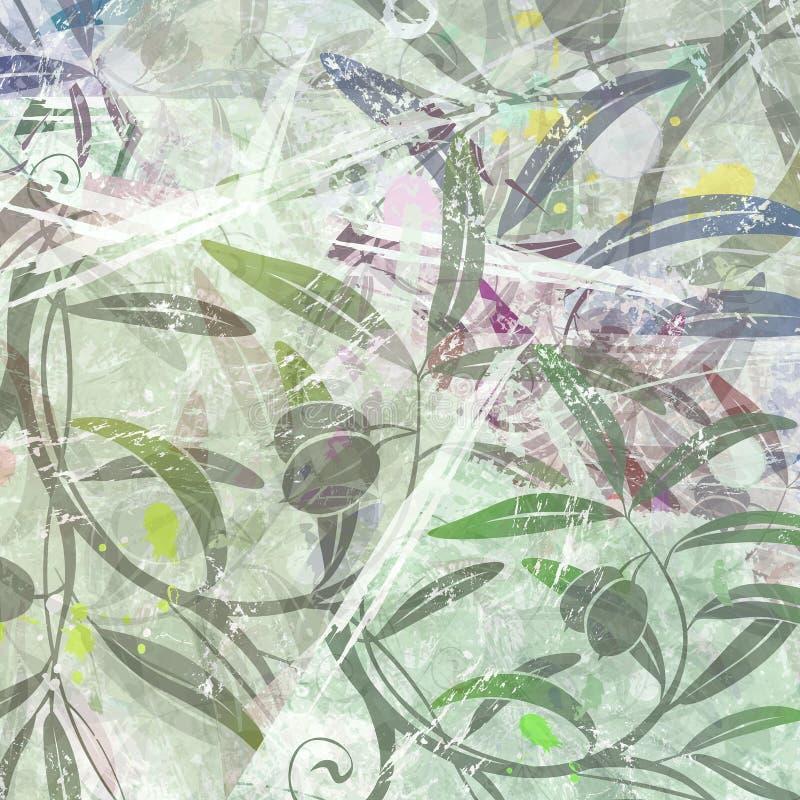 Bloemen behang stock illustratie