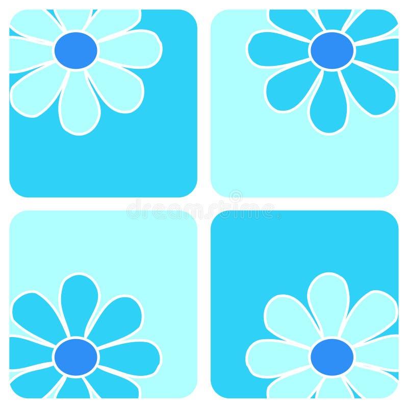 Bloemen - Blauwe samenstelling royalty-vrije illustratie