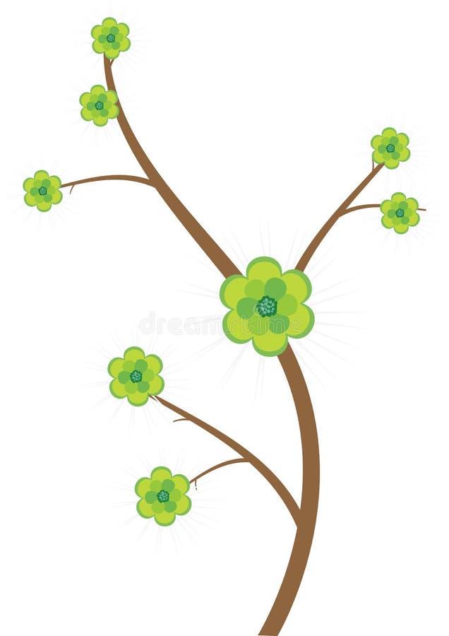 Bloemen boom - vector vector illustratie