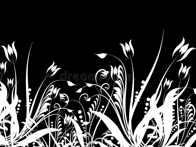 Bloemen chaos royalty-vrije illustratie