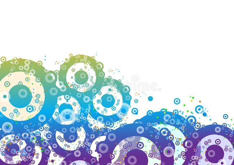 Bloemen cirkels royalty-vrije illustratie