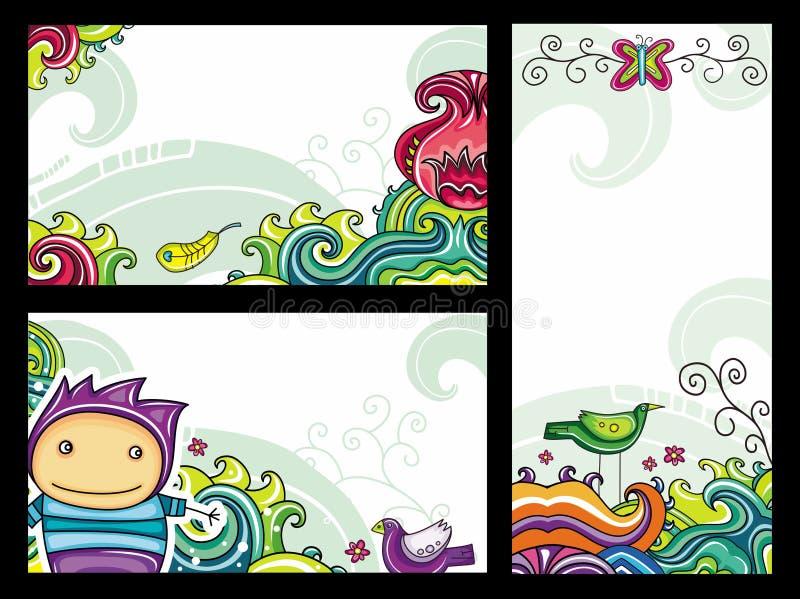 Bloemen cpmpositions 1 stock illustratie