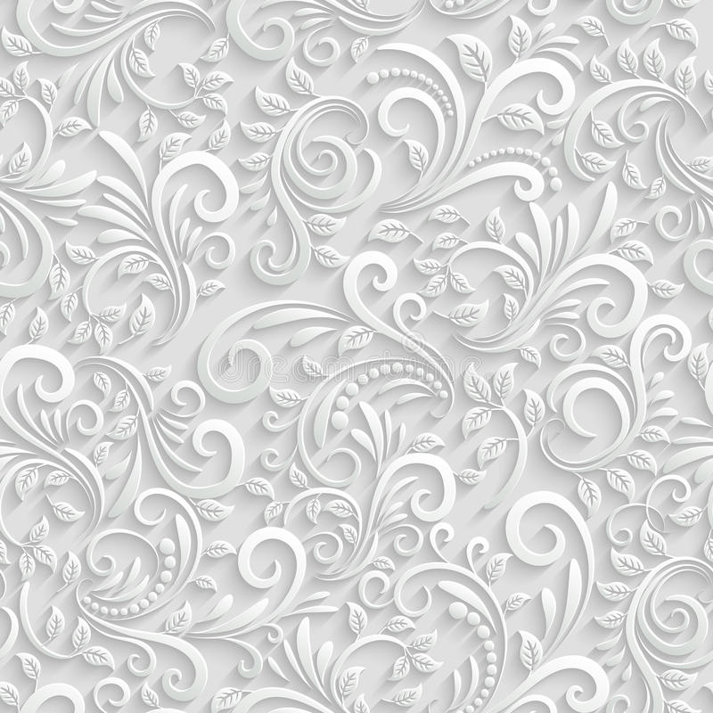 Bloemen 3d Naadloze Achtergrond royalty-vrije illustratie