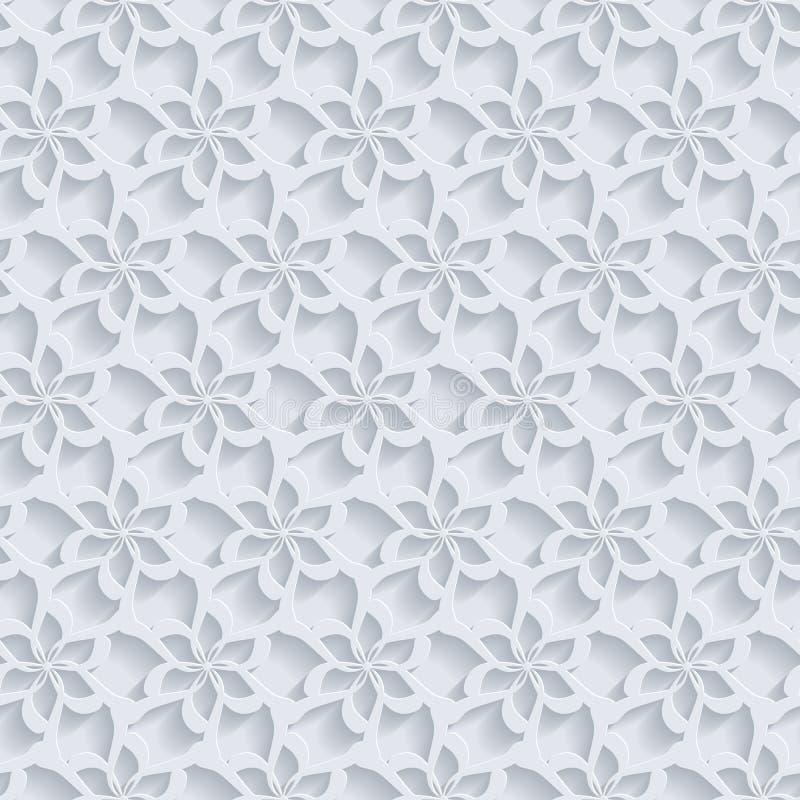Bloemen 3d Naadloze Patroonachtergrond royalty-vrije illustratie
