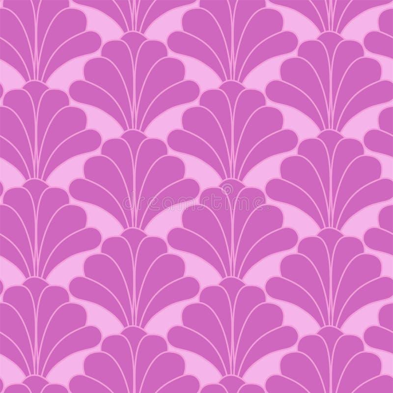 Bloemen de Bloem Naadloos Patroon van Art Deco Gatsby Style Pink royalty-vrije illustratie