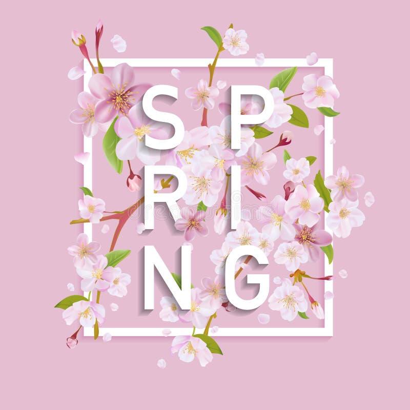 Bloemen de Lente Grafisch Ontwerp stock illustratie