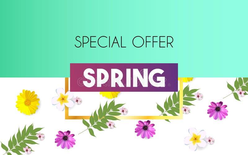 Bloemen de Lente Grafisch Ontwerp met kleurrijke bloemen voor t-shirt, manier, drukken, viering Illustratie royalty-vrije illustratie