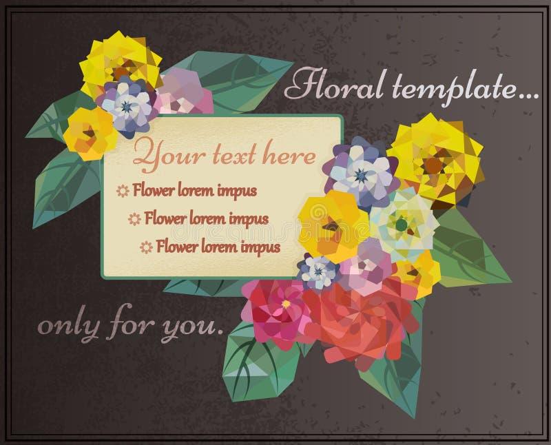Bloemen de zomerkader stock illustratie