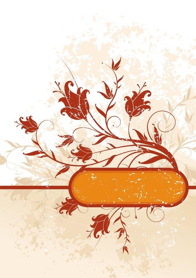 Bloemen decor vector illustratie