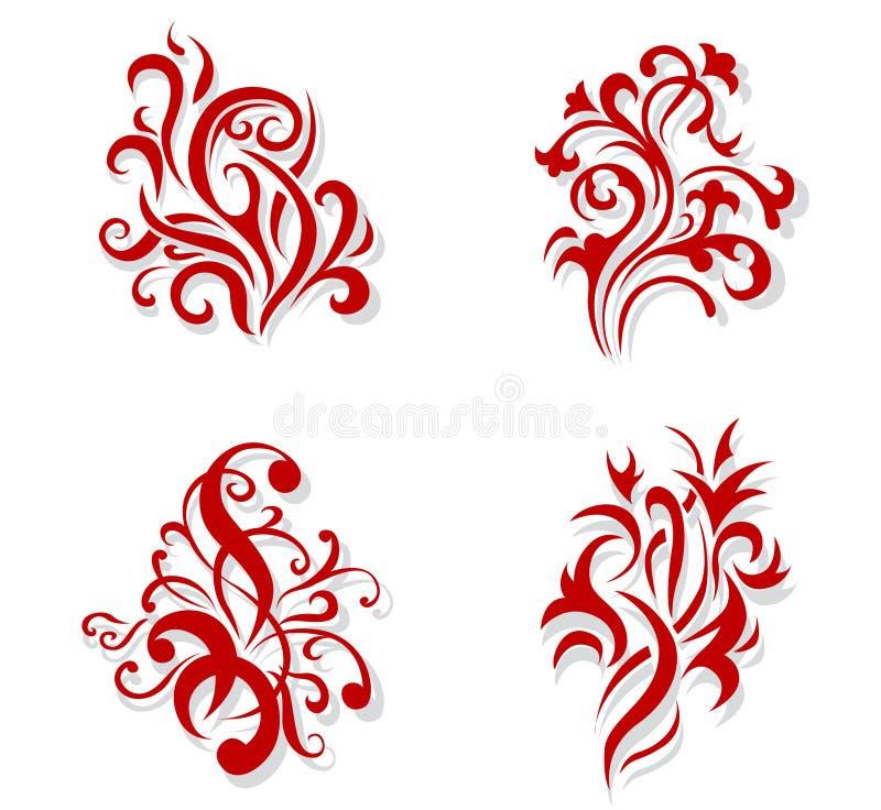Bloemen decoratie vector illustratie
