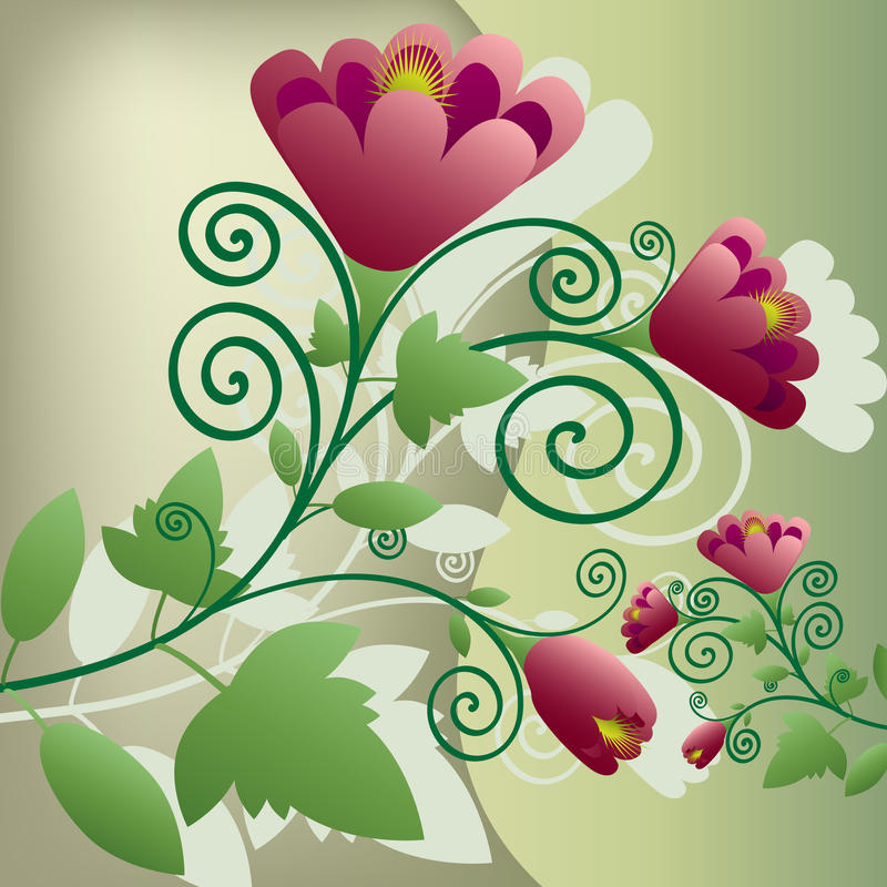 Bloemen decoratie stock illustratie