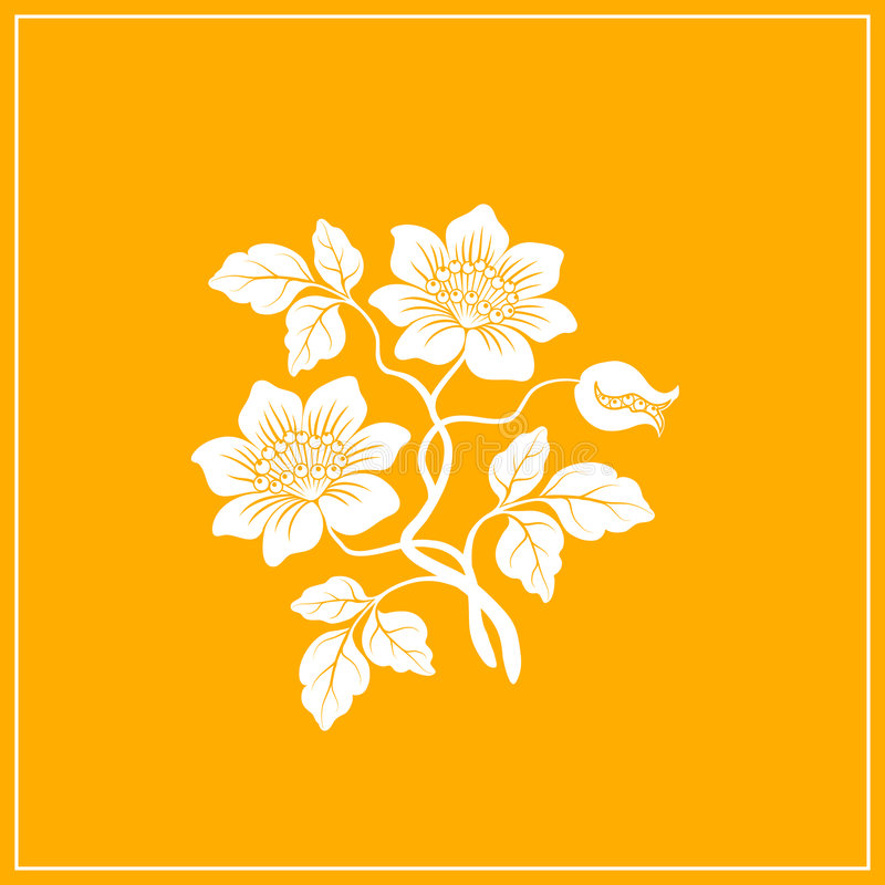 Bloemen decoratie. stock illustratie