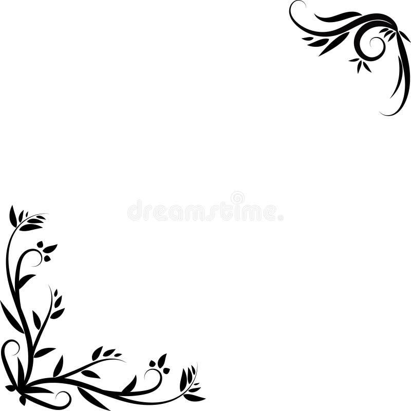 Bloemen decoratief element voor hoekontwerp royalty-vrije illustratie