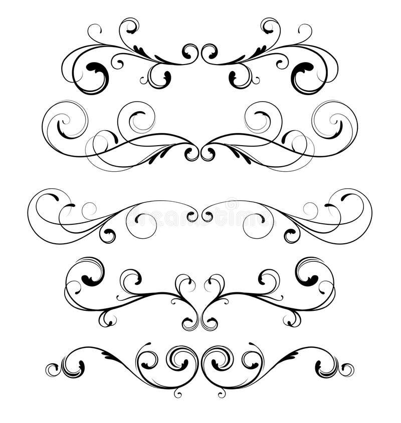 Bloemen decoratieve elementen vector illustratie