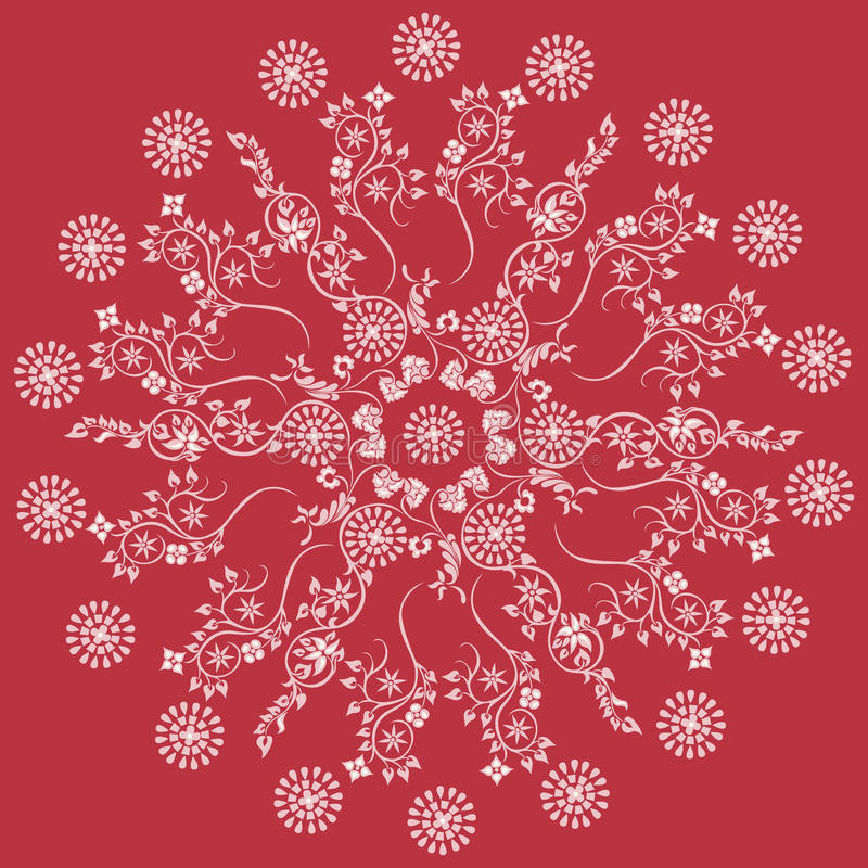 Bloemen decoratieve mandala van het ornamentpatroon stock illustratie