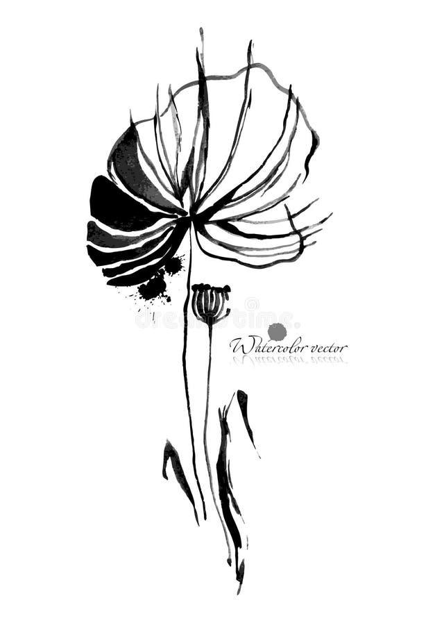 Bloemen die in een fijne kunststijl zijn ontsproten in een studio royalty-vrije stock foto
