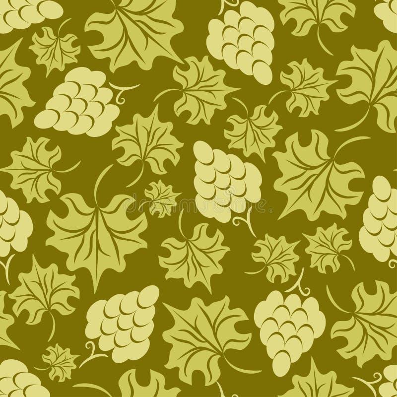Bloemen druiven naadloos patroon stock illustratie