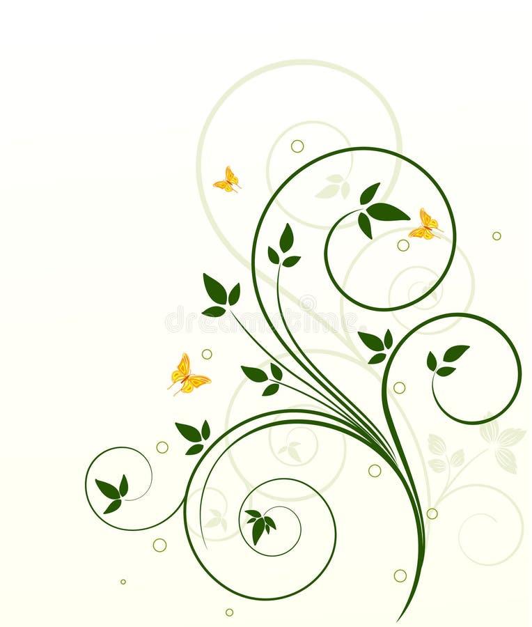 Bloemen ecologic vector als achtergrond stock illustratie