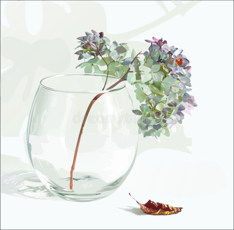 Bloemen in een vaas stock illustratie
