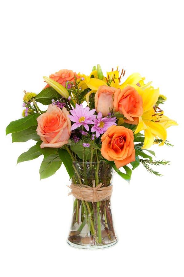 Bloemen in een vaas royalty-vrije stock foto
