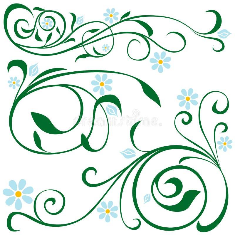 Bloemen elementen stock illustratie