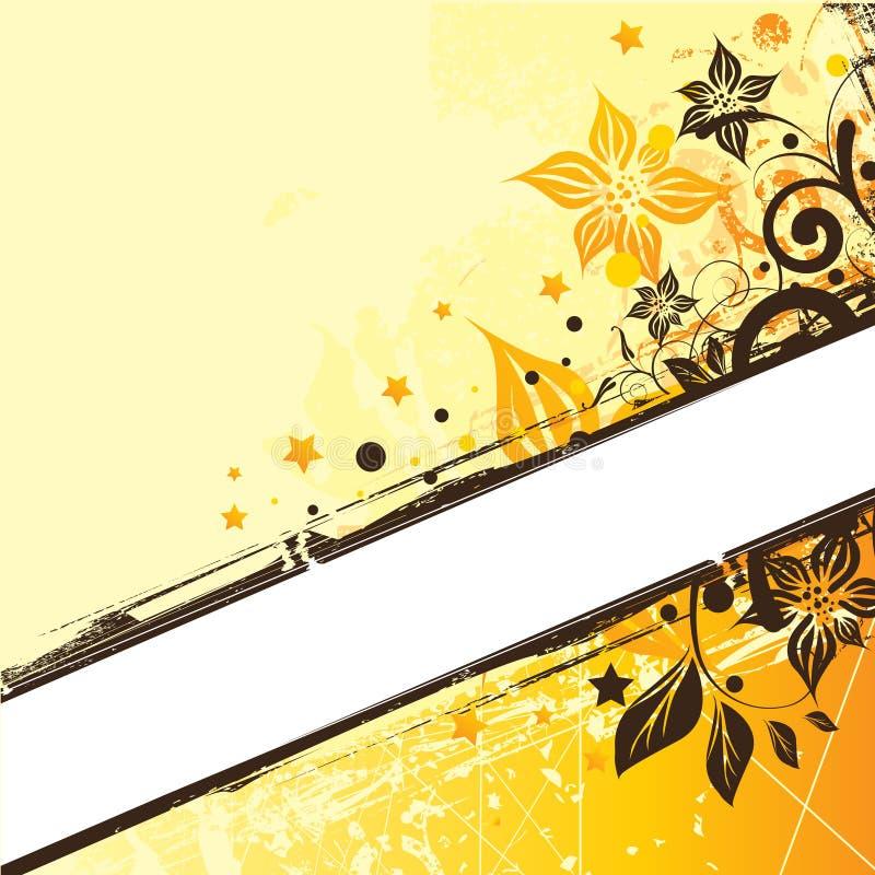 Bloemen Elementen Als achtergrond stock illustratie