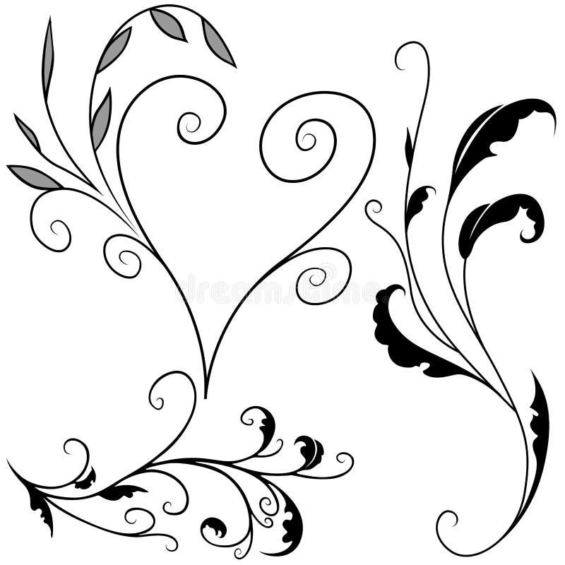 Bloemen elementen G royalty-vrije illustratie