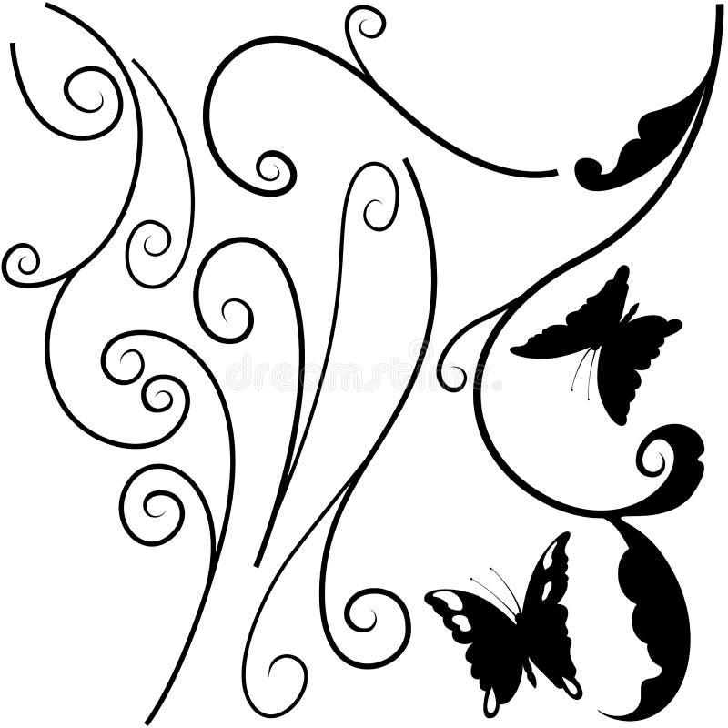 Bloemen elementen I vector illustratie