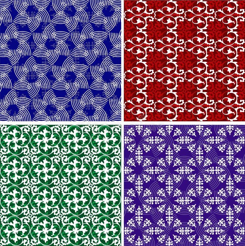 Bloemen en andere achtergronden vector illustratie