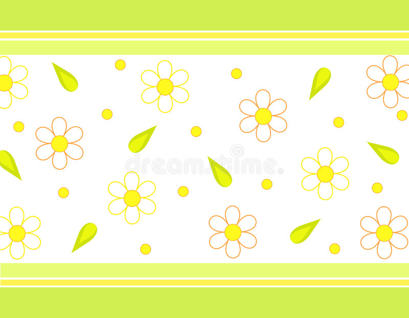 Bloemen en bladeren stock illustratie