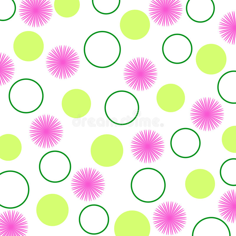 Bloemen en cirkels royalty-vrije illustratie