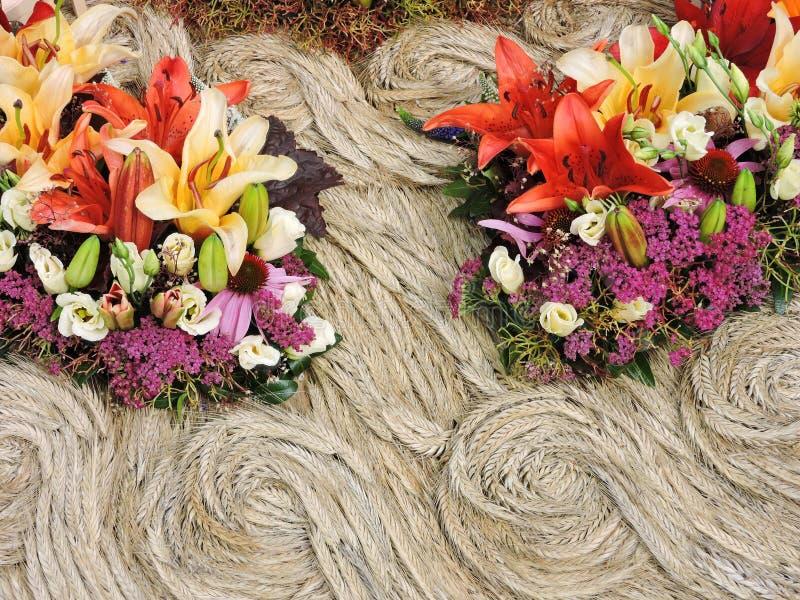 Bloemen en korrelsoorpatroon royalty-vrije stock foto