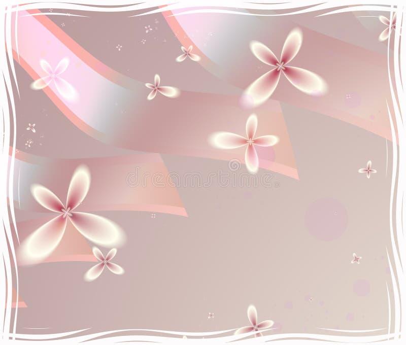 Bloemen en Linten stock illustratie