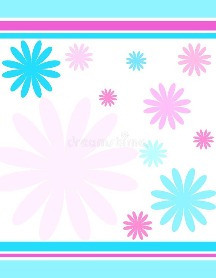 Bloemen en strepen royalty-vrije illustratie