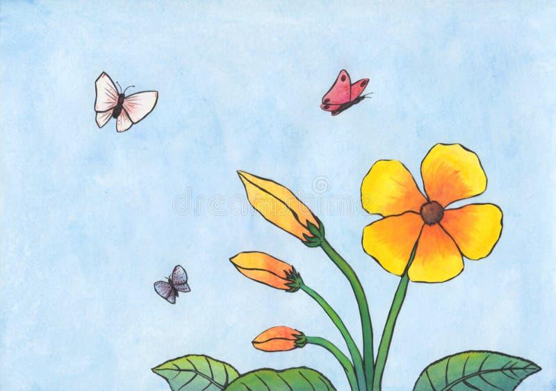 Bloemen en Vlinders (2011) royalty-vrije stock afbeeldingen