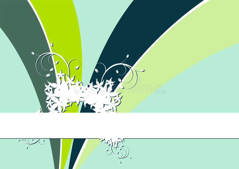 Bloemen etiket stock illustratie