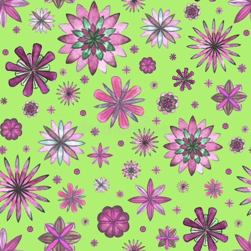 Download Bloemen Etnisch Boho Naadloos Patroon Stock Illustratie - Illustratie bestaande uit stof, samenvatting: 107705004