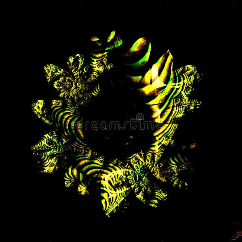bloemen & fractals stock foto's