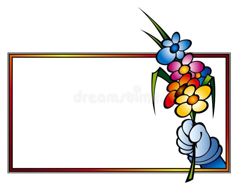Bloemen in frame stock illustratie