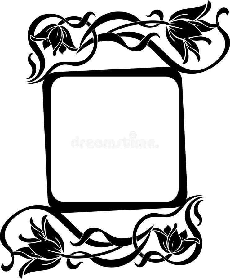 Bloemenkader stock illustratie