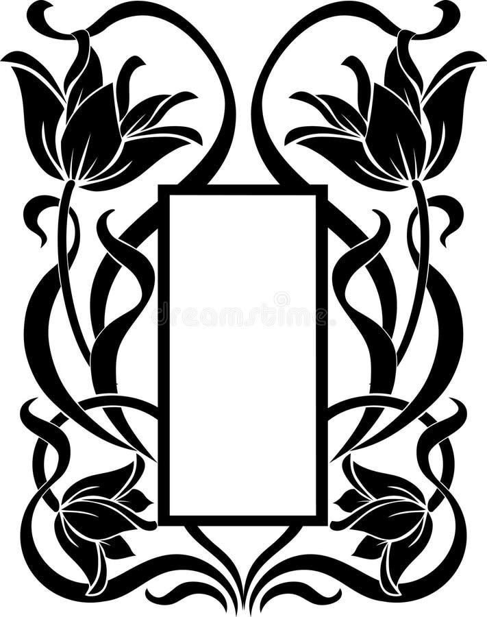 Bloemenkader vector illustratie