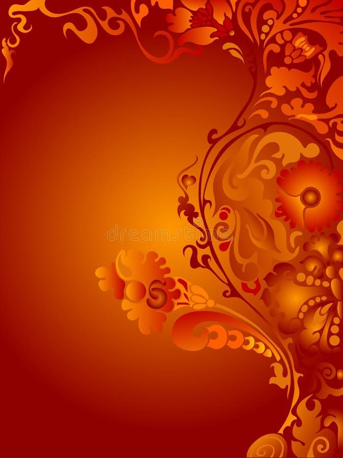 Bloemen frame stock illustratie