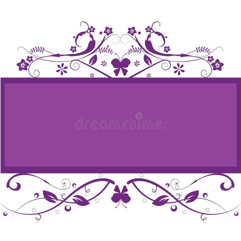 Bloemen frame achtergrond royalty-vrije illustratie