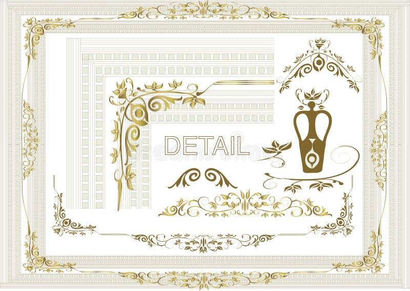Bloemen frame elementen vector illustratie