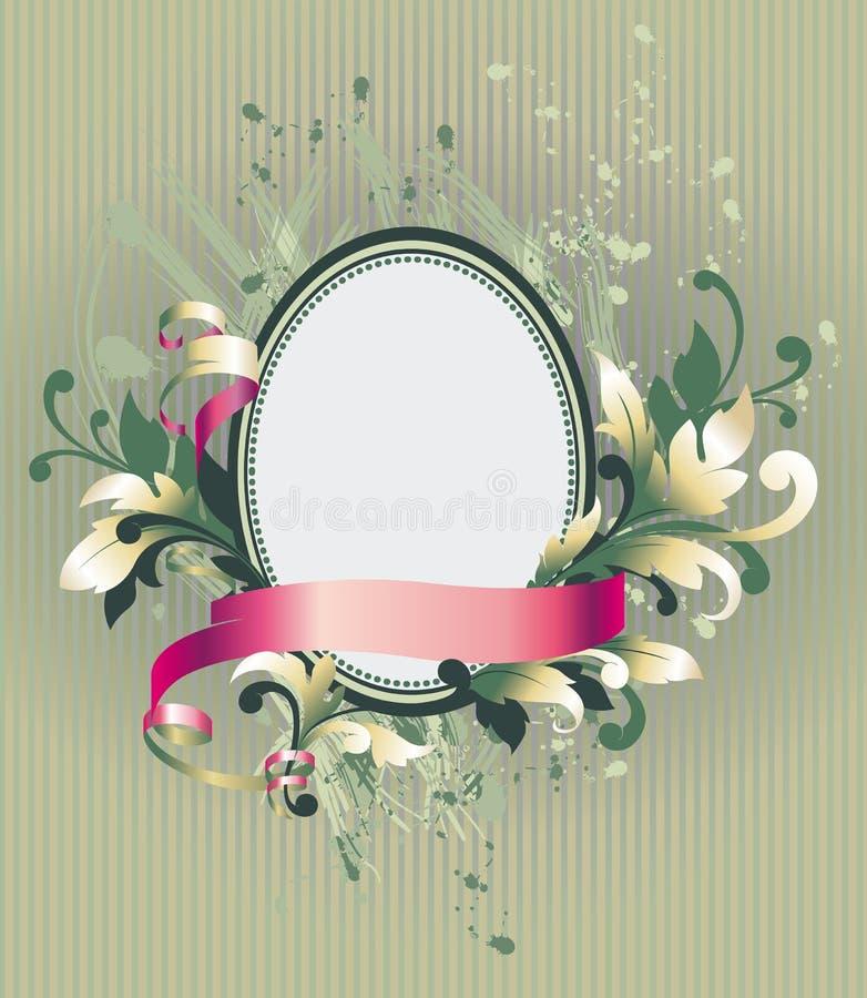 Bloemen frame op behang