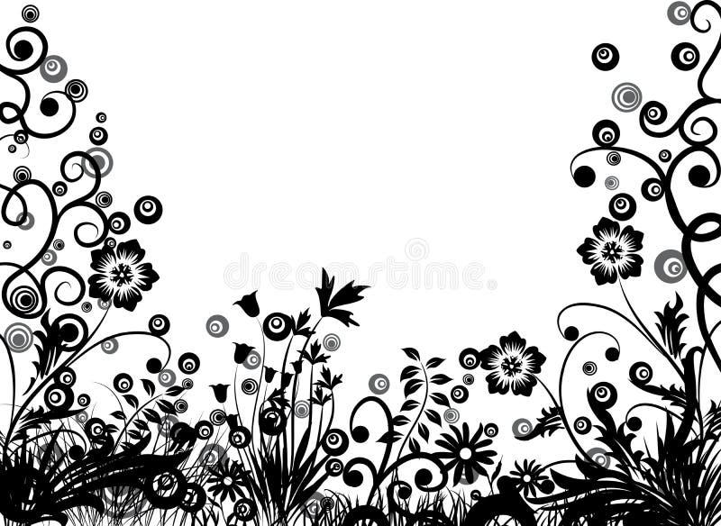 Bloemen frame, vector royalty-vrije illustratie