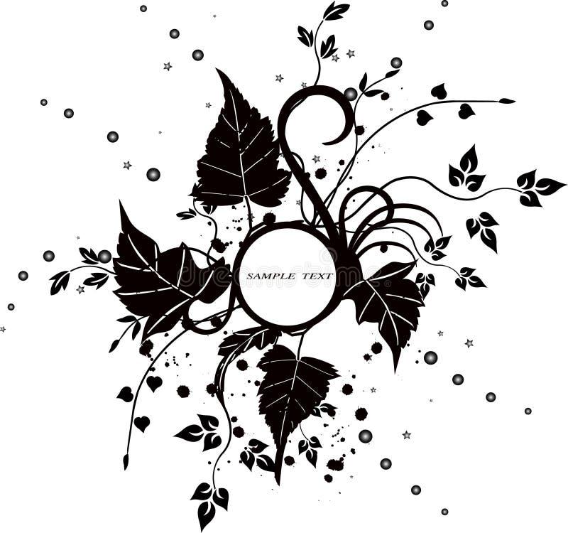 Bloemen frame - vector royalty-vrije illustratie
