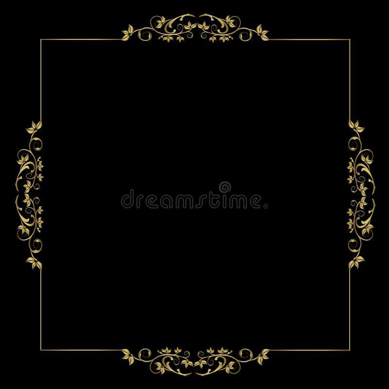 Bloemen Frame - vectorornament vector illustratie
