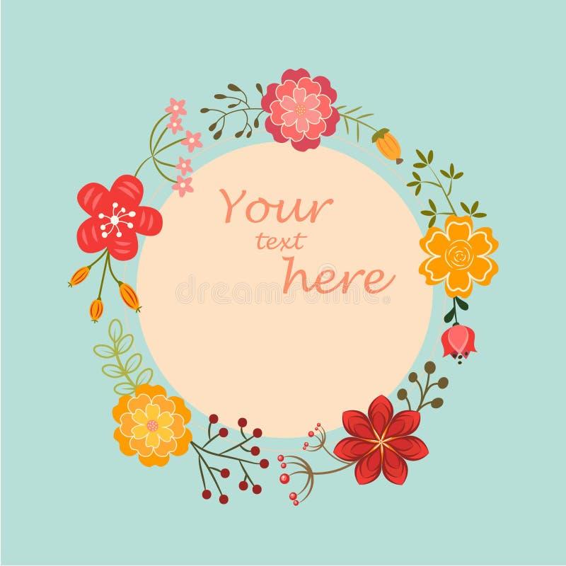 Bloemen frame voor uw ontwerp stock illustratie