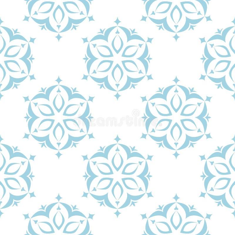 Bloemen gekleurd naadloos patroon Blauwe en witte achtergrond met fowerelementen voor behang vector illustratie